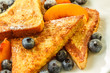 French toast with blueberries and nectarine