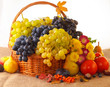 Still life with autumn fruits