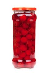 Cocktail cherry glass jar