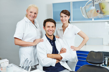 Group of employees at dentist