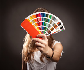 woman with pantone