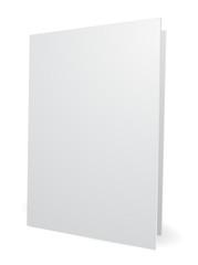blank white folder 3d