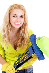 Housework young woman housewife
