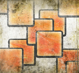 abstract squares on grunge background