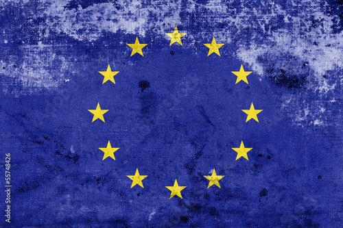 Grunge European Union Flag, EU Flag