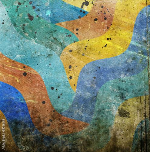 Keuken foto achterwand Vlinders in Grunge abstract vivid background
