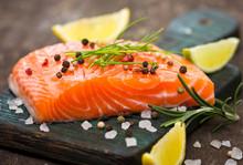 "Постер, картина, фотообои ""Fresh salmon"""