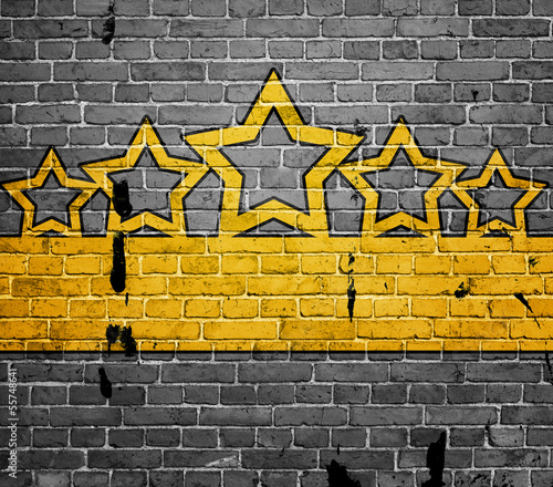 grunge background with five stars