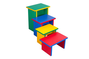 Perspective of color chairs