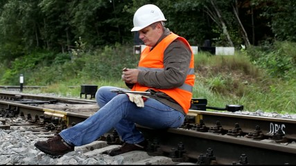 Worker with a coffee on the rail episode 1