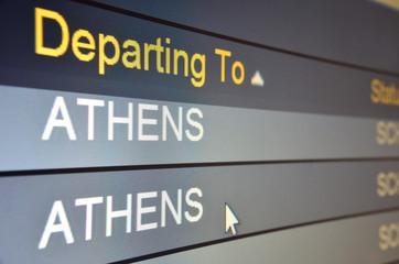 Flight departing to Athens