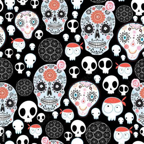 Tapeta texture of funny skulls