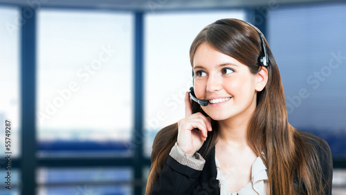 Customer representative portrait
