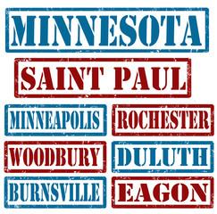 Minnesota Cities stamps