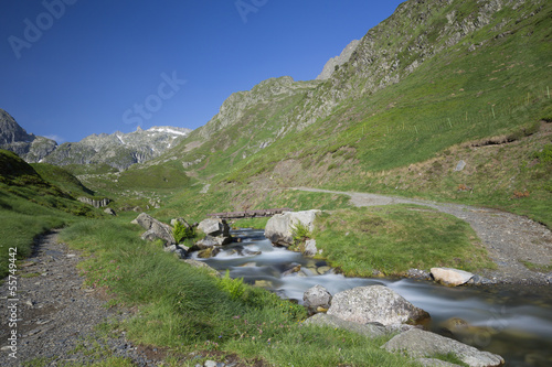 Torrent in valley, National park of pyrenees, France
