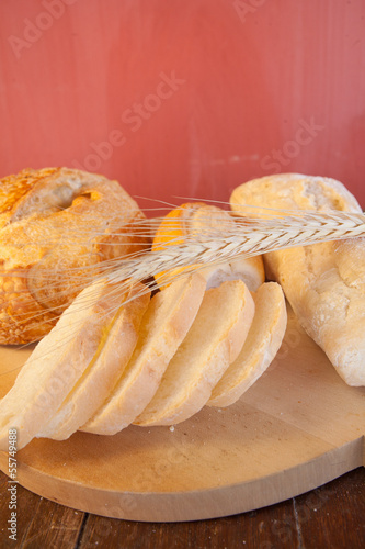 bread on wooden
