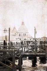 artwork  in retro style,  Venice
