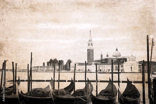 artwork  in retro style,  Venice - 55750088