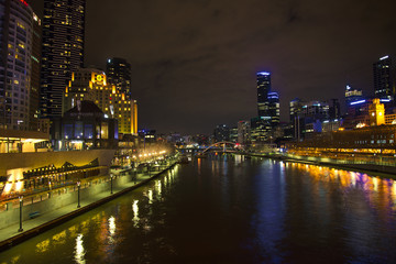 central melbourne skyline in australia