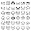 icon Vector illustration of animal faces.
