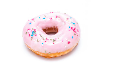 Delicious Donut Isolated on White Background
