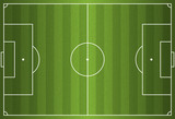Fototapety Realistic Vector Football - Soccer Field
