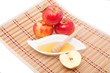 Sliced apple and honey dipper