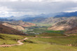 Landscape of mountains in Tibet