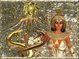 Imperial Goddess, holding a scepter with two gold snakes