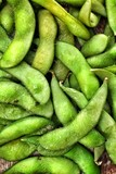 Green fresh soybeans