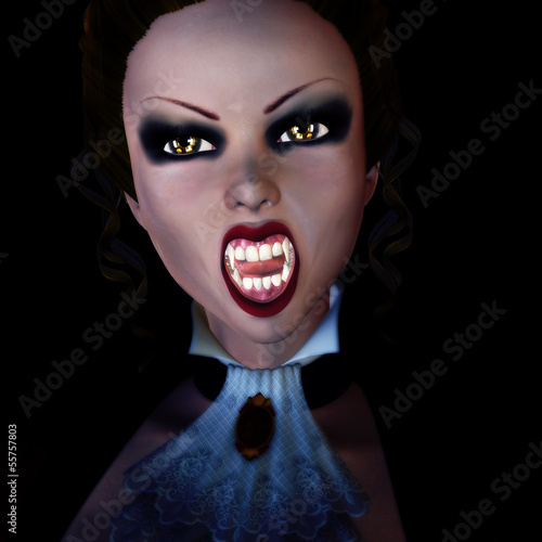 3d vampire in the dark