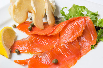 Smoked Salmon with Capers Macro