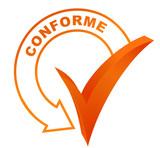 conforme sur symbole validé orange poster