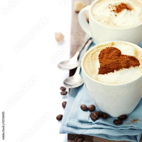 Fototapeten,liebe,herz,tassen,cappuccino