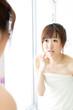 beautiful asian woman skin care image