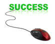 Computer mouse and word Success