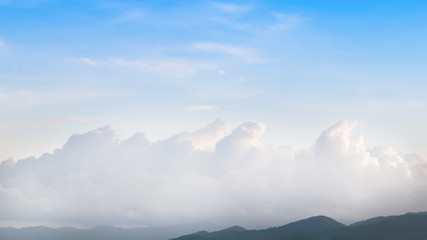 Mountain and cloud  in rainforest