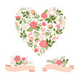 floral bouquets and heart