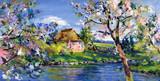 frühling landschaft malerei - 55763445
