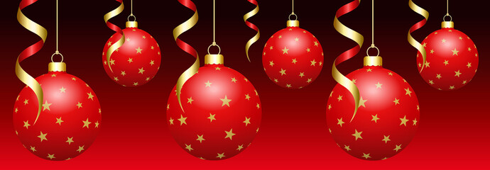 Boules de Noël blanches sur fond dégradé