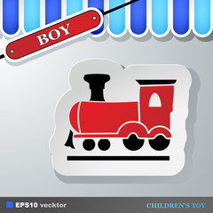 Icon of a children's steam locomotive