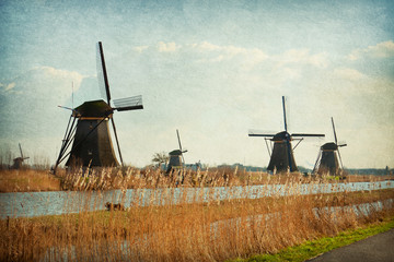 Mill Network at Kinderdijk-Elshout, Netherlands.