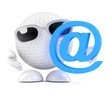 Golfball with email symbol