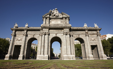 Alcala Gate in Madrid city