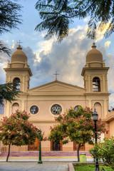 Church in Cafayate in Salta Argentina.