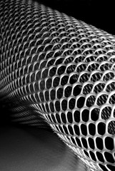 abstract image of plastic honeycomb mesh
