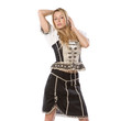 beautiful woman in tiroler oktoberfest outfit