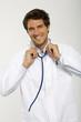 Männlich Arzt lächelnd, Nahaufnahme, Portrait