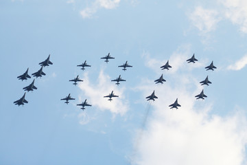Group of aircrafts