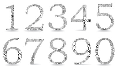 Set of numbers, each created from text tittles
